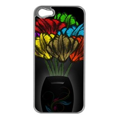 Flowers Painting Still Life Plant Apple iPhone 5 Case (Silver)