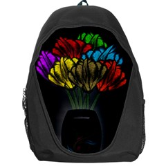 Flowers Painting Still Life Plant Backpack Bag