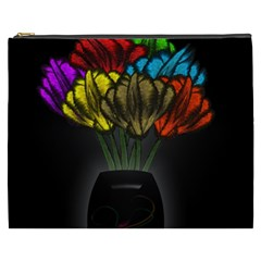 Flowers Painting Still Life Plant Cosmetic Bag (XXXL)