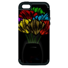 Flowers Painting Still Life Plant Apple iPhone 5 Hardshell Case (PC+Silicone)