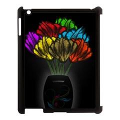 Flowers Painting Still Life Plant Apple iPad 3/4 Case (Black)
