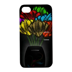 Flowers Painting Still Life Plant Apple Iphone 4/4s Hardshell Case With Stand