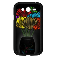 Flowers Painting Still Life Plant Samsung Galaxy Grand Duos I9082 Case (black)