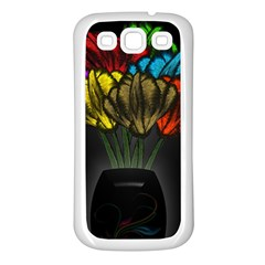 Flowers Painting Still Life Plant Samsung Galaxy S3 Back Case (White)
