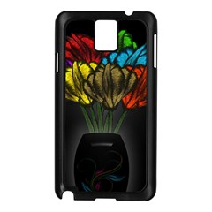 Flowers Painting Still Life Plant Samsung Galaxy Note 3 N9005 Case (Black)