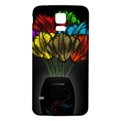 Flowers Painting Still Life Plant Samsung Galaxy S5 Back Case (white)