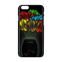 Flowers Painting Still Life Plant Apple iPhone 6/6S Black Enamel Case