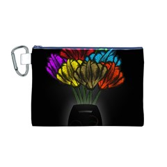 Flowers Painting Still Life Plant Canvas Cosmetic Bag (M)