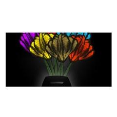 Flowers Painting Still Life Plant Satin Shawl