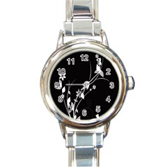 Plant Flora Flowers Composition Round Italian Charm Watch