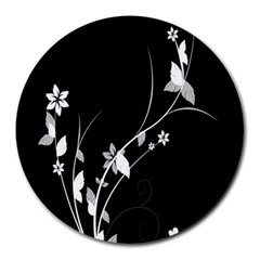 Plant Flora Flowers Composition Round Mousepads