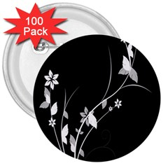 Plant Flora Flowers Composition 3  Buttons (100 Pack)