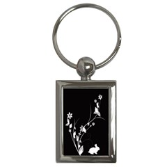 Plant Flora Flowers Composition Key Chains (Rectangle)