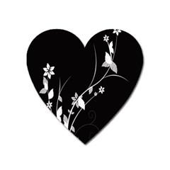 Plant Flora Flowers Composition Heart Magnet