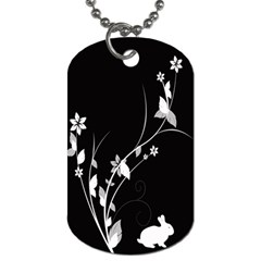 Plant Flora Flowers Composition Dog Tag (one Side)