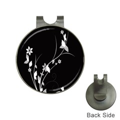 Plant Flora Flowers Composition Hat Clips with Golf Markers