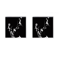 Plant Flora Flowers Composition Cufflinks (square)