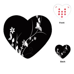 Plant Flora Flowers Composition Playing Cards (Heart)