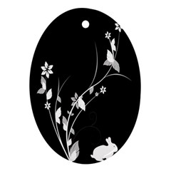 Plant Flora Flowers Composition Oval Ornament (Two Sides)