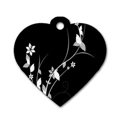 Plant Flora Flowers Composition Dog Tag Heart (One Side)