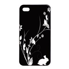 Plant Flora Flowers Composition Apple iPhone 4/4s Seamless Case (Black)
