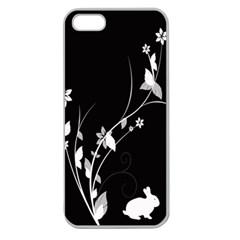 Plant Flora Flowers Composition Apple Seamless iPhone 5 Case (Clear)