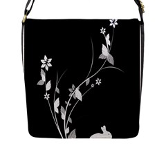 Plant Flora Flowers Composition Flap Messenger Bag (L)