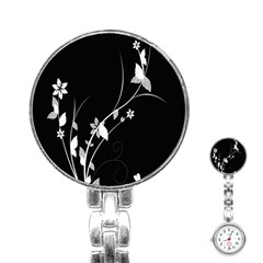 Plant Flora Flowers Composition Stainless Steel Nurses Watch