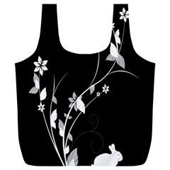 Plant Flora Flowers Composition Full Print Recycle Bags (L)