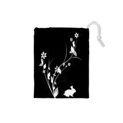 Plant Flora Flowers Composition Drawstring Pouches (Small)