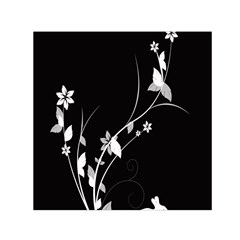 Plant Flora Flowers Composition Small Satin Scarf (Square)