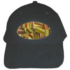 Earth Tones Geometric Shapes Unique Black Cap