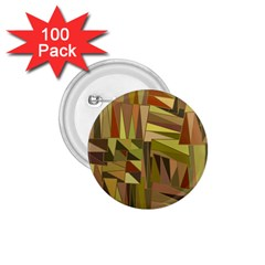 Earth Tones Geometric Shapes Unique 1 75  Buttons (100 Pack)
