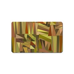 Earth Tones Geometric Shapes Unique Magnet (name Card)