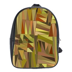 Earth Tones Geometric Shapes Unique School Bags(Large)