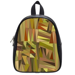Earth Tones Geometric Shapes Unique School Bags (small)