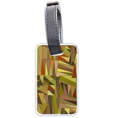 Earth Tones Geometric Shapes Unique Luggage Tags (One Side)