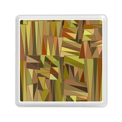 Earth Tones Geometric Shapes Unique Memory Card Reader (Square)