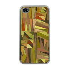 Earth Tones Geometric Shapes Unique Apple iPhone 4 Case (Clear)