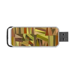 Earth Tones Geometric Shapes Unique Portable USB Flash (Two Sides)