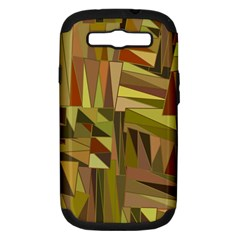 Earth Tones Geometric Shapes Unique Samsung Galaxy S III Hardshell Case (PC+Silicone)