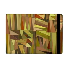 Earth Tones Geometric Shapes Unique Apple iPad Mini Flip Case