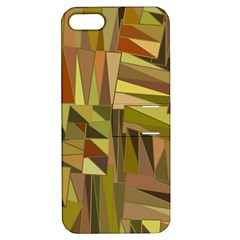Earth Tones Geometric Shapes Unique Apple iPhone 5 Hardshell Case with Stand