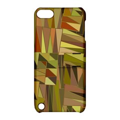 Earth Tones Geometric Shapes Unique Apple iPod Touch 5 Hardshell Case with Stand