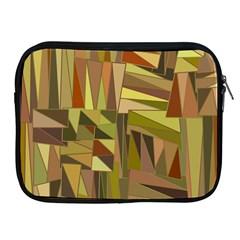 Earth Tones Geometric Shapes Unique Apple iPad 2/3/4 Zipper Cases