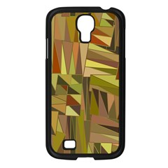 Earth Tones Geometric Shapes Unique Samsung Galaxy S4 I9500/ I9505 Case (Black)