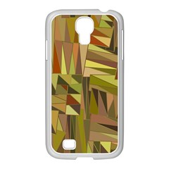 Earth Tones Geometric Shapes Unique Samsung Galaxy S4 I9500/ I9505 Case (white)