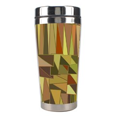 Earth Tones Geometric Shapes Unique Stainless Steel Travel Tumblers