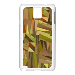 Earth Tones Geometric Shapes Unique Samsung Galaxy Note 3 N9005 Case (White)