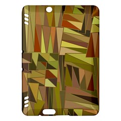 Earth Tones Geometric Shapes Unique Kindle Fire HDX Hardshell Case